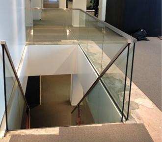 Stalen trap in Symphony toren te Amsterdam